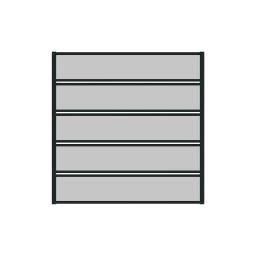 Sichtschutzzaun Planket Feld Länge: 200 cm...